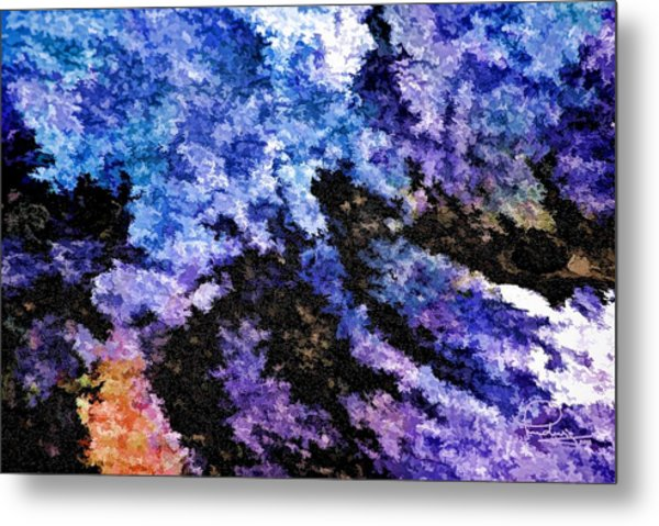 Abstract Granite Metal Print