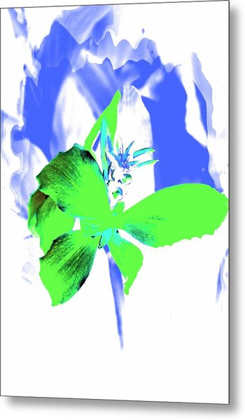 Abstract Green Metal Print by Cathie Tyler