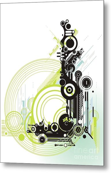 Abstract  Grunge & Tech Background Metal Print