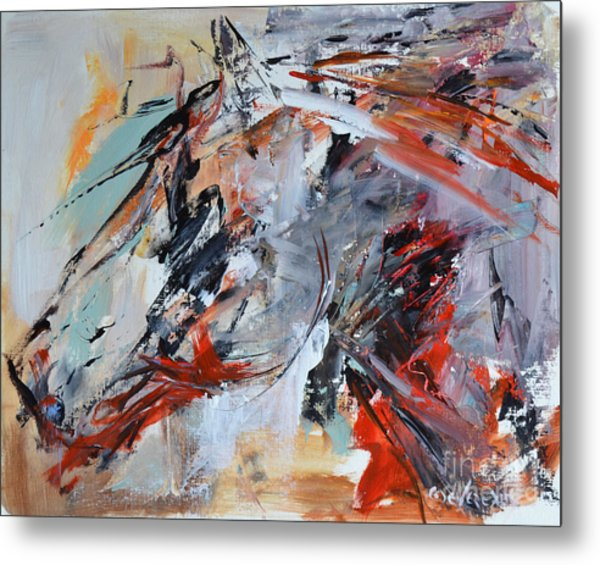 Abstract Horse 1 Metal Print