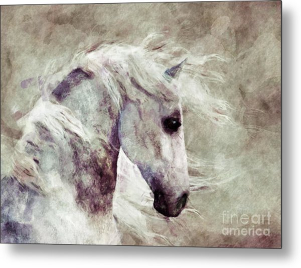 Abstract Horse Portrait Metal Print