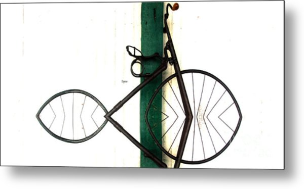 Abstract In Geometric Velocipede  Metal Print by Steven Digman