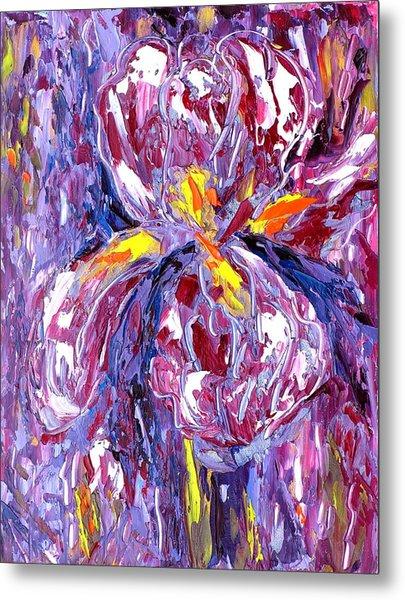 Abstract Iris Metal Print