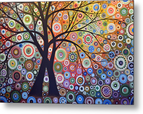 Abstract Landscape Painting ... Magic Garden Metal Print