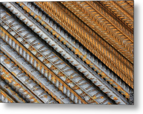 Abstract Metal Texture Pattern Metal Print
