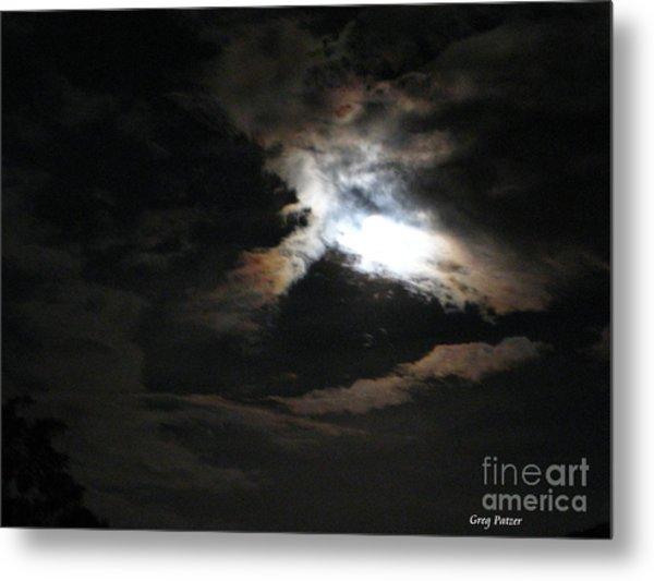 Abstract Moon Metal Print by Greg Patzer