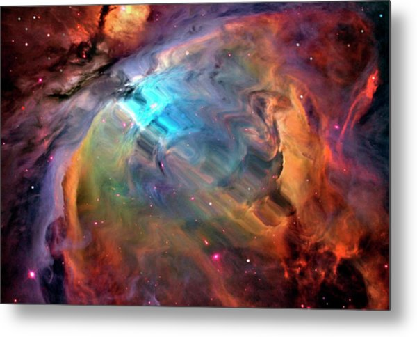 Abstract Multicolored Outer Space Metal Print