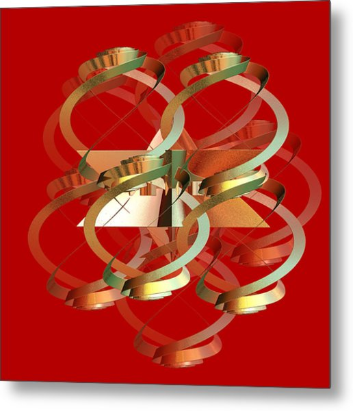 Abstract On Red Series 4 Metal Print