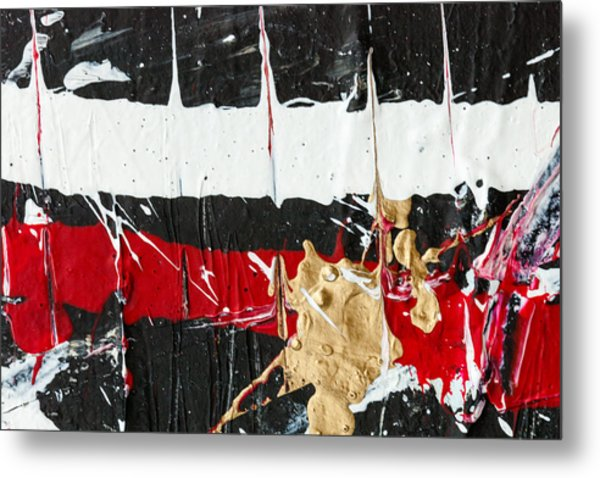 Abstract Original Painting Number Five Metal Print