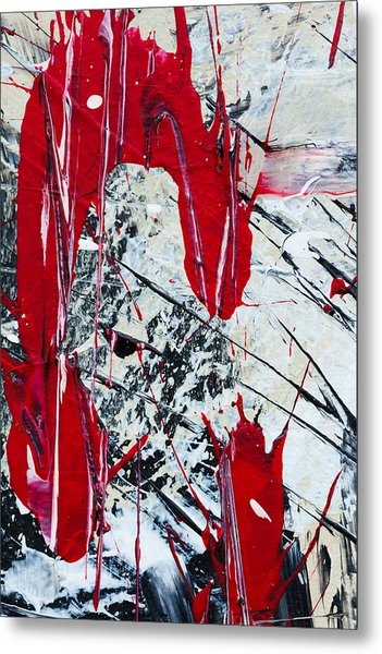 Abstract Original Painting Untitled Nine Metal Print