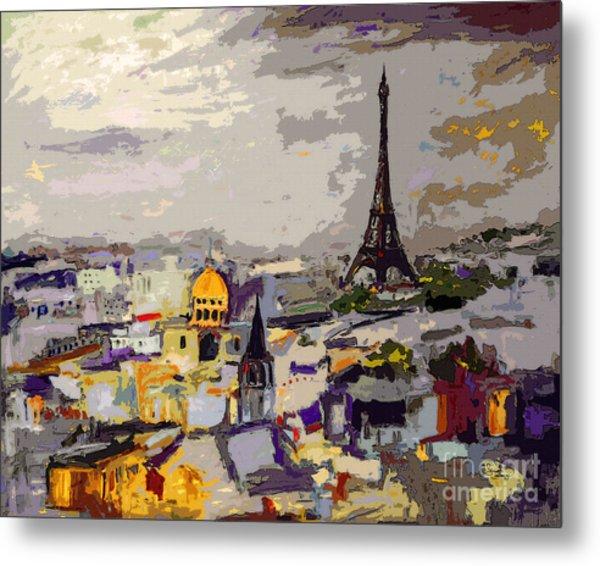 Abstract Paris Memories Metal Print