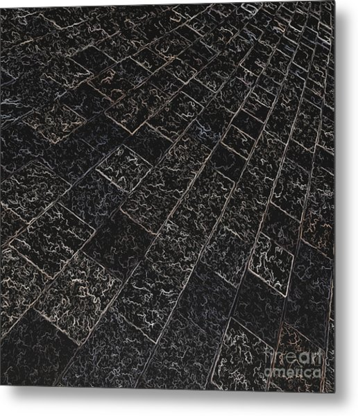 Abstract Path With Dark Background Metal Print by Ken Schulze