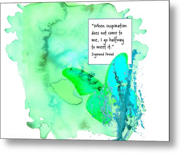 Abstract Quote 1 Metal Print