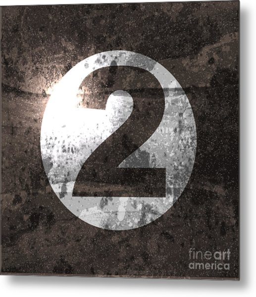 Abstract Retro Background With Number Metal Print by File404