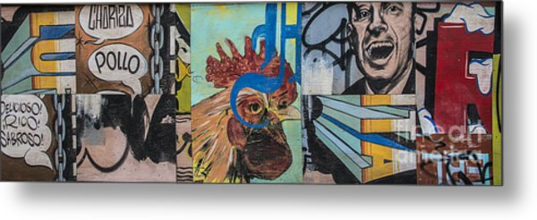 Abstract Rooster Panel Metal Print