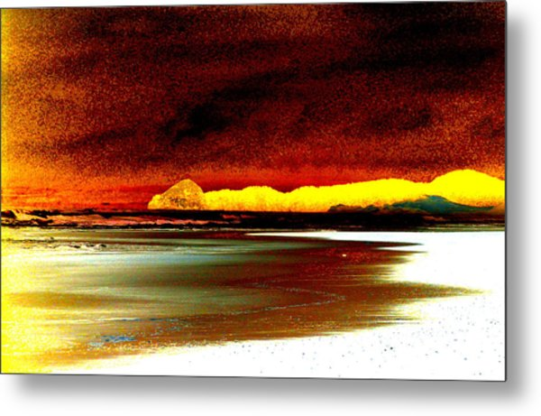 Abstract Seascape Metal Print by Mamie Gunning