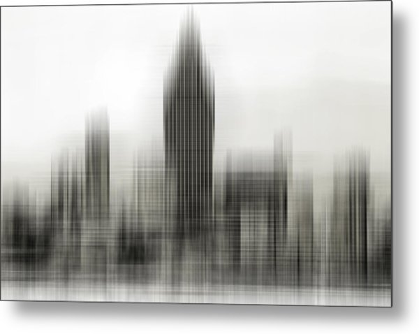 Abstract Skyline Metal Print