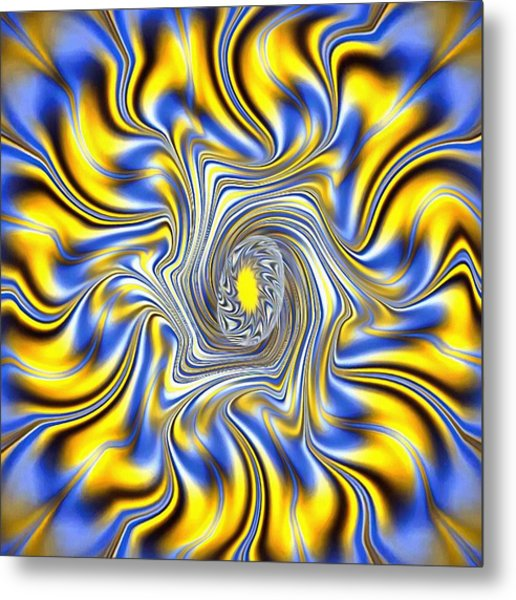 Abstract Spun Flower Metal Print