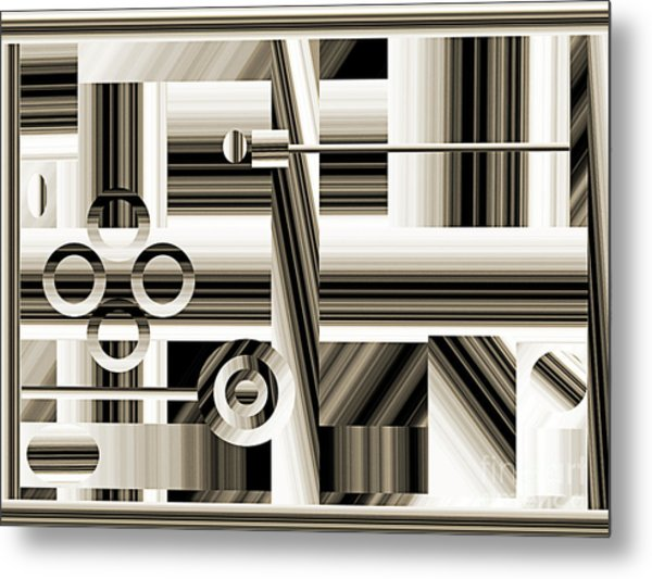 Abstract Station The Road To No Where Metal Print