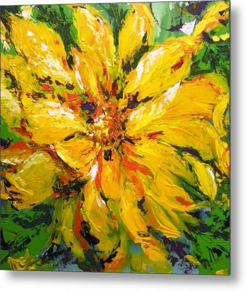 Abstract Sunflower Metal Print
