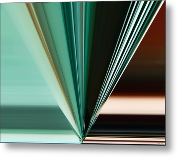 Abstract - Teal - Aqua - Five Metal Print