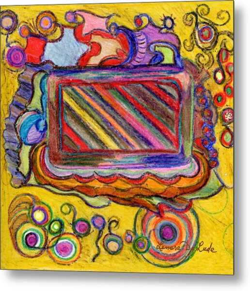 Abstract Television And Shapes Metal Print
