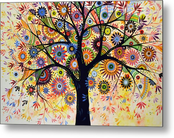 Abstract Tree Painting ... Life Giver Metal Print