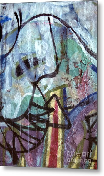 abstract urban art - Paint Your Mountain Metal Print