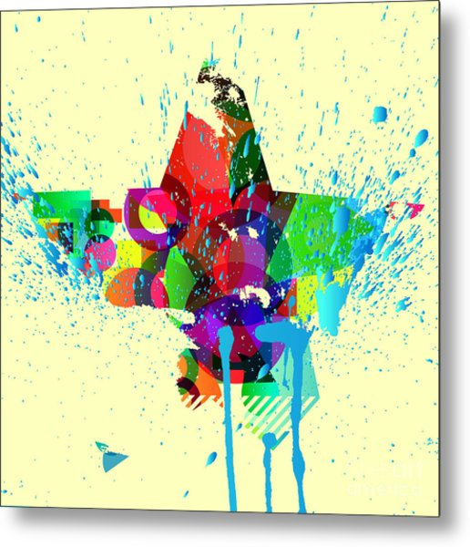 Abstract Vector Background Metal Print