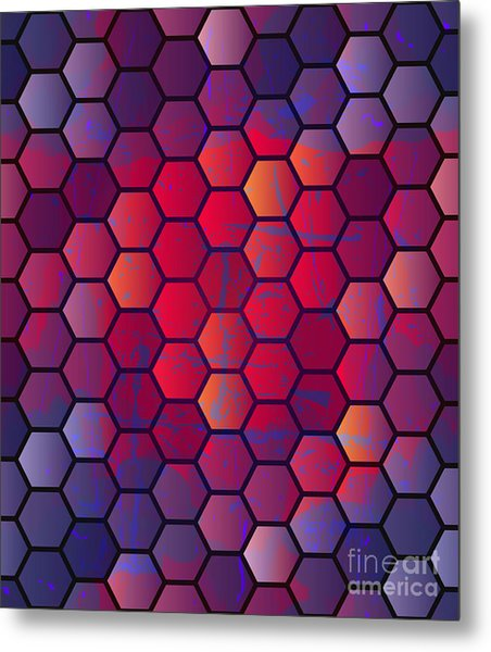 Abstract Vector Geometric Background Metal Print by Alextanya