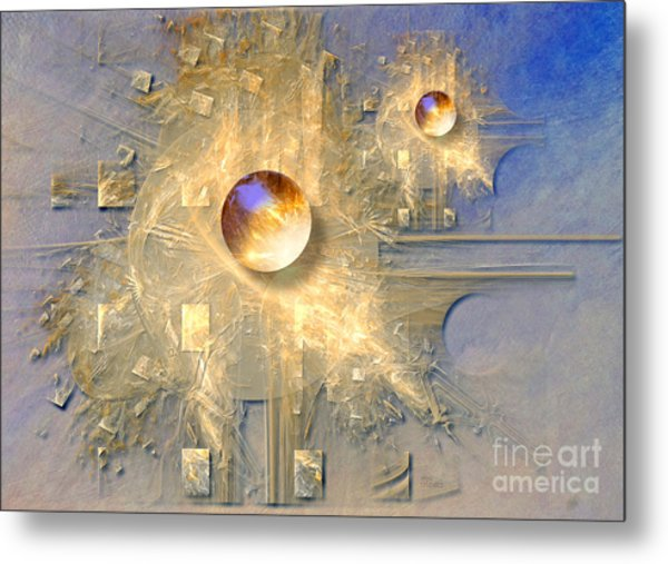 Abstract With Balls Metal Print