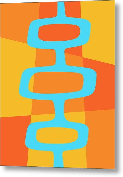 Abstract With Turquoise Pods 3 Metal Print