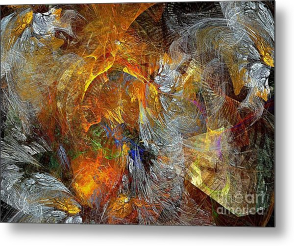 Abstraction 435-08-13  Marucii Metal Print