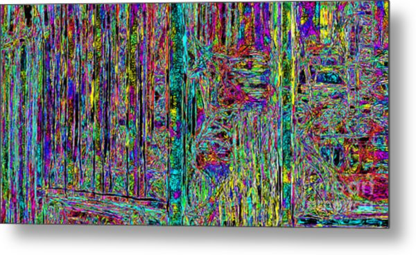 Abstraction - 7d14097 Metal Print by Wingsdomain Art and Photography