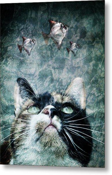 Abyss Cat Nr 2 Metal Print