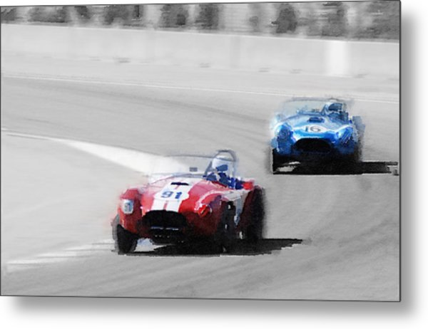 Ac Cobra Racing Monterey Watercolor Metal Print