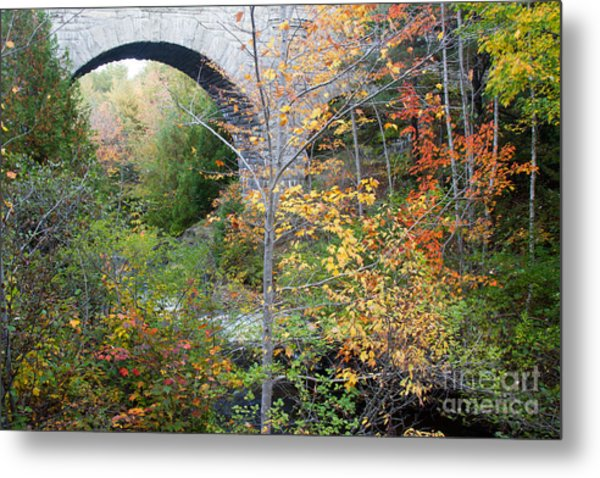 Acadia Carriage Bridge Metal Print