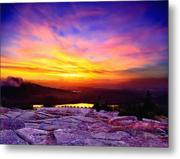 Acadia National Park Cadillac Mountain Sunrise Forsale Metal Print