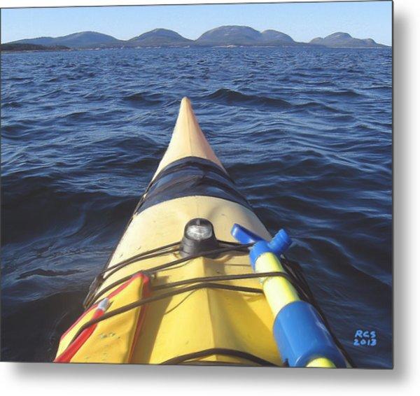 Acadia Sea Kayaking Metal Print