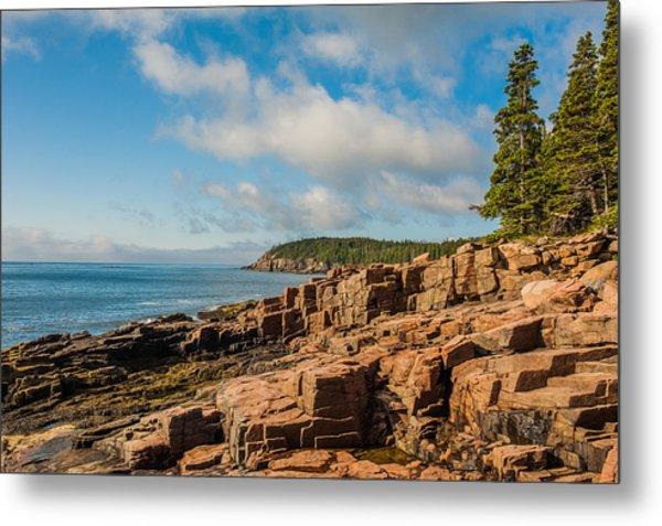 Acadia Shoreline Metal Print
