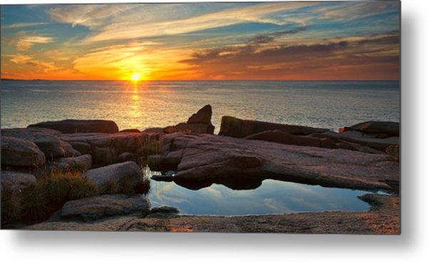 Acadia Sunrise Metal Print