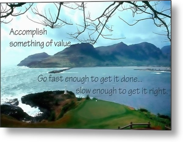 Accomplish Value 21168 Metal Print