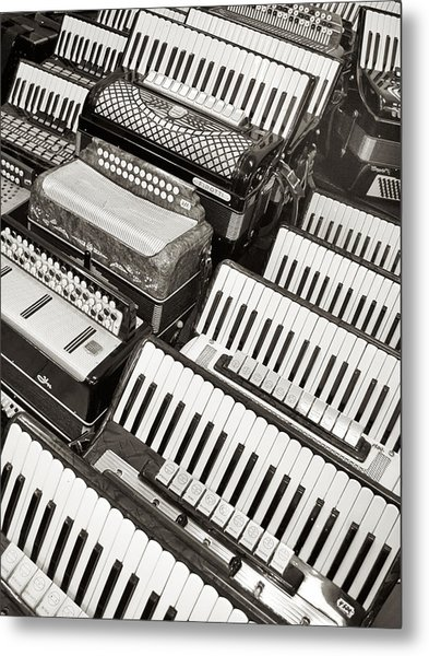 Accordions Metal Print