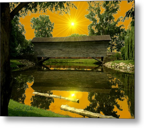 Ackley Covered Bridge Metal Print