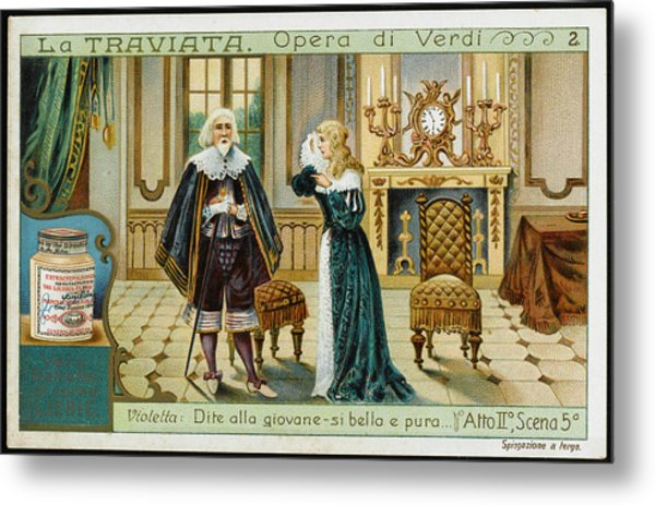 Act Two, Scene Five  Alfredo's Father Metal Print by Mary Evans Picture Library