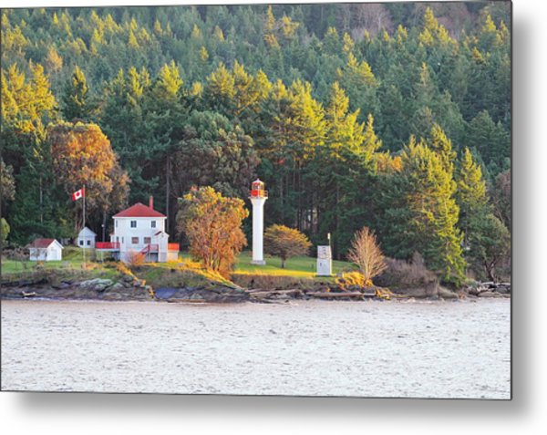 Active Pass Light House Metal Print