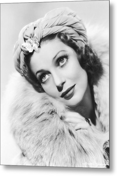 Actress Loretta Young Metal Print