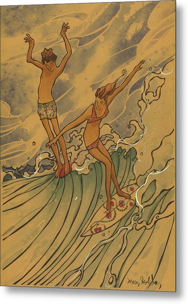 Adam And Eve 2 Metal Print