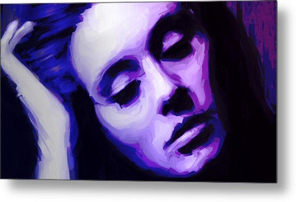 Metal Print featuring the painting Adele by Jennifer Hotai