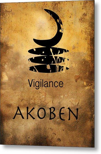 Adinkra  Akoben Metal Print